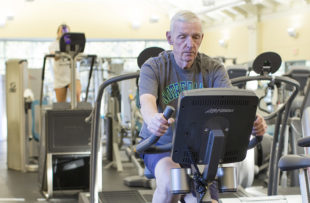 Jack Welde works out at Tidelands HealthPoint Center for Health and Fitness