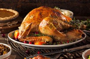 Roasted turkey with all the sides